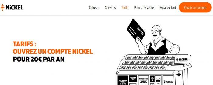 Tarif Compte Nickel